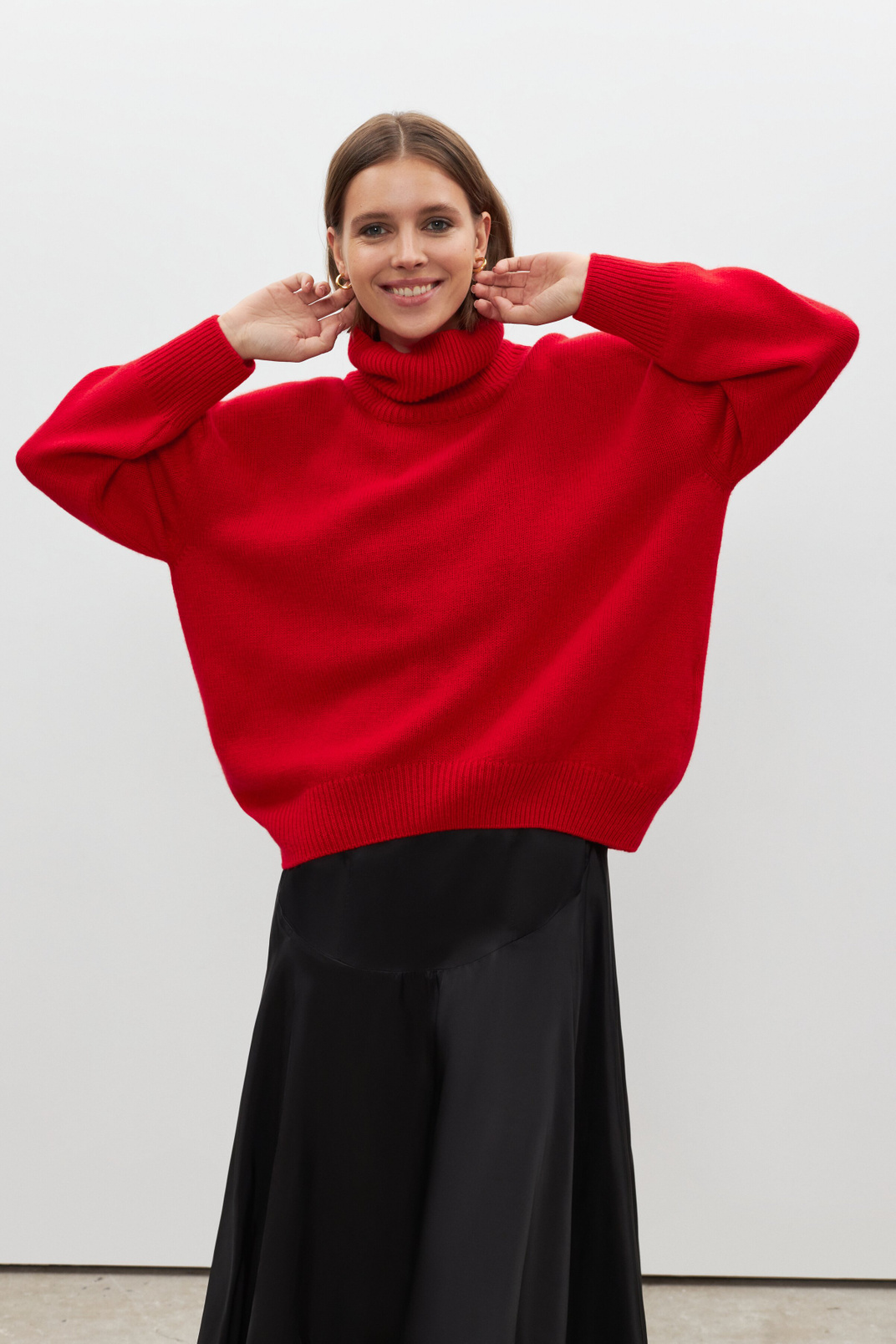 Oversize sweater 100% cashmere, Red, S